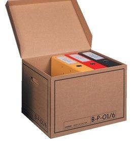 Pressel Archivbox, 43l, Wellp., Klappdeckel, 41x35x30cm, i: 39x33x29cm, natur