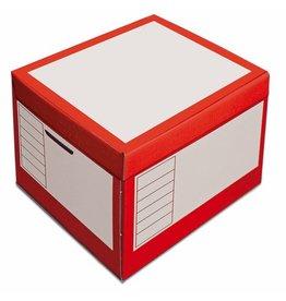 Pressel Archivbox, 43l, Wellp., Klappdeckel, 41x35x30cm, i: 39x33x29cm, rot