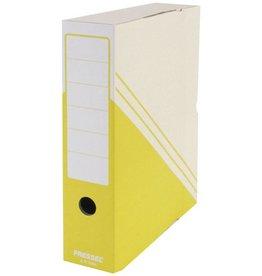Pressel Archivbox, 75 mm, Wellpappe, Steckverschluss, 7,5x26x32cm, gelb