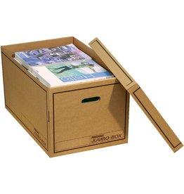 Pressel Archivbox, Jumbo, m.Deckel, 62,5x39,5x32,5cm, i: 60x37x32cm, braun