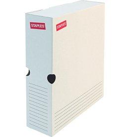 STAPLES Archivbox, Karton, 26 x 7,5 x 32,5 cm, weiß
