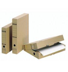 LEITZ Archivbox, Wellp.(RC), Lasche, A4, 7x26,5x32,5cm, br