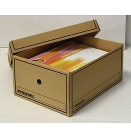 Pressel Archivbox, Wellpappe, m.Deckel, 45x22,5x22cm, naturbraun