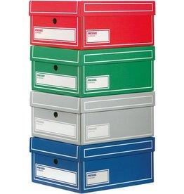 Pressel Archivbox, Wellpappe, mit Deckel, 17,5x27,5x15,5cm, 4farbig sortiert
