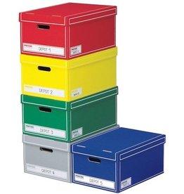 Pressel Archivbox, Wellpappe, mit Deckel, 39,5 x 62,5 x 32,5 cm, sortiert