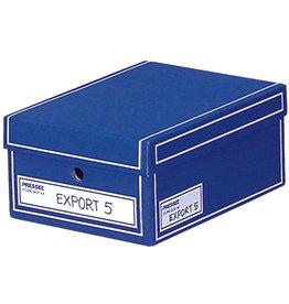 Pressel Archivbox, Wellpappe, mit Deckel, A4, 25,5x35x15,5cm, blau