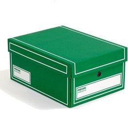 Pressel Archivbox, Wellpappe, mit Deckel, A4, 25,5x35x15,5cm, grün