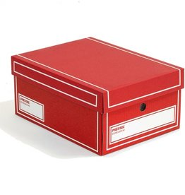 Pressel Archivbox, Wellpappe, mit Deckel, A4, 25,5x35x15,5cm, rot