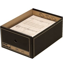 Pressel Archivbox, Wellpappe, mit Deckel, A4, 35 x 25,5 x 15,5 cm, braun