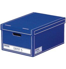 Pressel Archivbox, Wellpappe, mit Deckel, i: 32x47x23cm, blau
