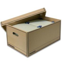 Pressel Archivbox, Wellpappe, mit Deckel, i: 32x47x23cm, natur