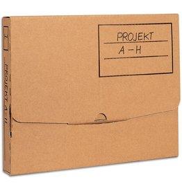 Pressel Archivbox, Wellpappe, Steckverschluss, A2, 45,5x62,5x3,5cm, braun