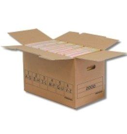 Pressel Aufbewahrungsbox Trans-Box, für 6 Ordner, 51,5 x 28,8 x 32,5 cm, braun