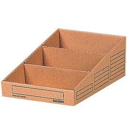 Pressel Aufbewahrungsbox, 3 Fächer, Wellpappe, 20,4x30,5x10,8cm, braun