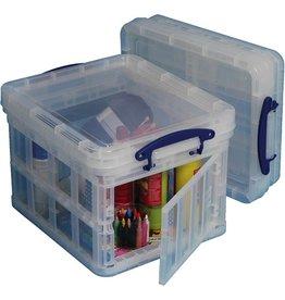Really Useful Box Aufbewahrungsbox, klappbar, PP, 35 l, 48 x 39 x 31 cm, farblos, tr