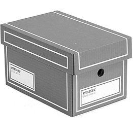 Pressel Aufbewahrungsbox, mit Deckel, Grifflöcher, 27,5 x 17,5 x 15,5 cm, grau