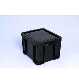 Really Useful Box Aufbewahrungsbox, PP, 35 l, 48 x 39 x 31 cm, schwarz