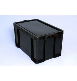 Really Useful Box Aufbewahrungsbox, PP, 84 l, 71 x 44 x 38 cm, schwarz