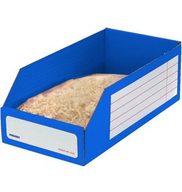Pressel Aufbewahrungsbox, Wellpappe, 15 x 30,5 x 11 cm, blau