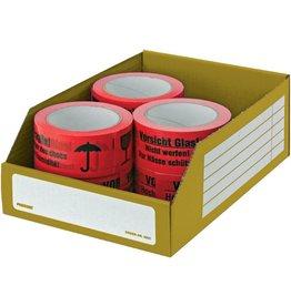 Pressel Aufbewahrungsbox, Wellpappe, 30,5 x 20 x 11 cm, gelb