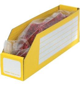 Pressel Aufbewahrungsbox, Wellpappe, 6,5 x 30,5 x 11 cm, gelb