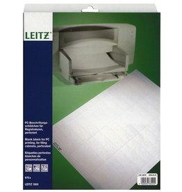 LEITZ Einsteckschild, Kart., 120g/m², blanko, 60x21mm, weiß