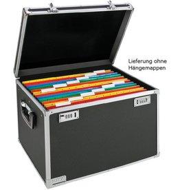 LEITZ Hängebox, leer, A4, 39,8x37,5x34,5cm, für: 30Hängem., schwarz/chrom