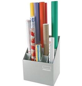 Pressel Zeichenrollenständer Top-Color, 20 Fächer, 39 x 31,5 x 56,5 cm, braun