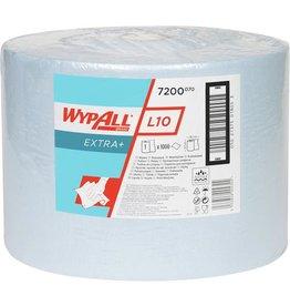 WYPALL* Wischtuch L10 Extra+, 1lagig, auf Großrolle, 23,5 x 38 cm, blau