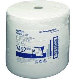 WYPALL* Wischtuch L40, 1lg., Rolle, 750 Tücher, 31,5x34cm, weiß
