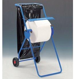 Kimberly-Clark Professional* Wischtuchspender, fahrbar, Met., für: 1Ro., 50x74x109cm, blau