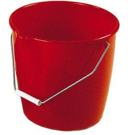 BÜRSTENMANN Eimer, Kunststoff, mit Ausgießer, rund, 13 l, rot