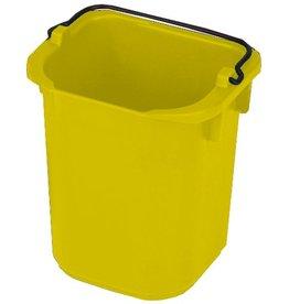 RubbermaidCommercial Products Eimer, PP, mit Ausgießer, viereckig, 5l, 22x20,5x21,5cm, gelb