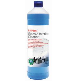 STAPLES Glasreiniger, flüssig, Flasche, 2 x 1 l, Zitrus