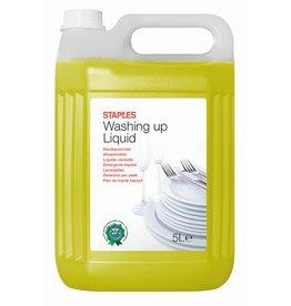 STAPLES Handgeschirrspülmittel, flüssig, Kanister, Zitrone