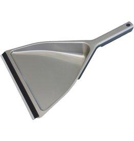 BÜRSTENMANN Kehrschaufel, Metall, mit Lippe, silber