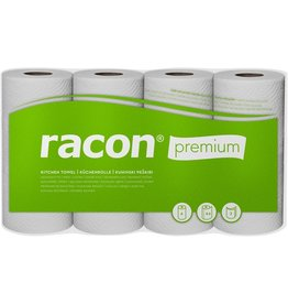 racon Küchenrolle premium, Zellstoff, 2lagig, 64 Blatt, 26 x 22 cm, weiß