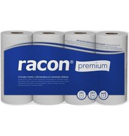racon Küchenrolle PREMIUM, Zellstoff, 3lagig, 51 Blatt, 26 x 22 cm, weiß