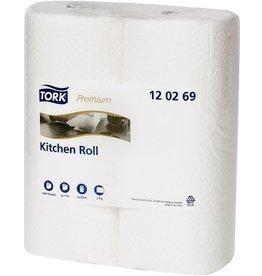 TORK Küchenrolle, 2lagig, auf Rolle, 23 cm x 15,4 m, 23 x 24 cm, weiß