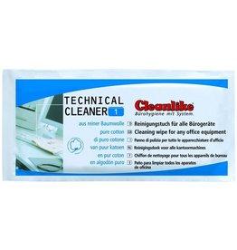 Cleanlike Reinigungstuch TECHNICAL, 190 x 200 mm, getränkt, Baumw., weiß