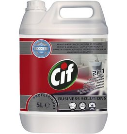 Cif PROFESSIONAL Sanitärreiniger Badreiniger 2in1, flüssig, Kanister