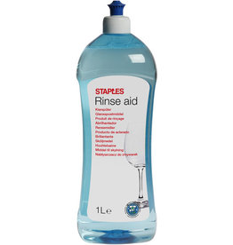 STAPLES Spülmaschinenklarspüler, flüssig, Flasche, 2 x 1 l