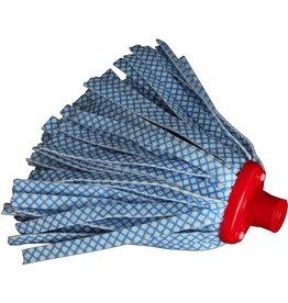 BÜRSTENMANN Wischmopp, Borsten: Vliesstoff, blau/weiß