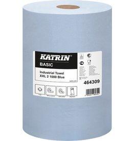 KATRIN Wischtuch Basic XXL, Tissue, 2lg., Rolle, 1.000Tü., 36x36cm