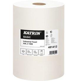 KATRIN Wischtuch Basic XXL, Tissue, 2lg., Rolle, 1.000Tü., 38x38cm