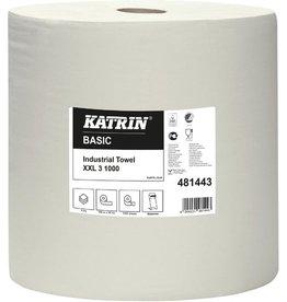 KATRIN Wischtuch Basic XXL, Tissue, 3lg., Rolle, 1.000Tü., 38x38cm