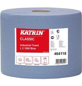 KATRIN Wischtuch Classic L, Tissue, 2lg., Rolle, 1.000Tü., 22x38cm, blau [2st]