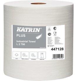 KATRIN Wischtuch L, 2lg., Rolle, 2 x 790 Tücher, 26,5x38cm, weiß