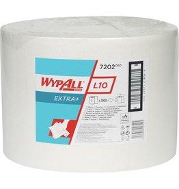 WYPALL* Wischtuch L10 Extra+, 1lagig, auf Großrolle, 23,5 x 38 cm, weiß