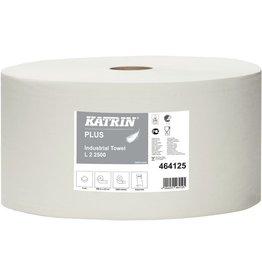 KATRIN Wischtuch Plus Industrial L, 2lg., Rolle, 2.500Tü., 22x38cm, weiß